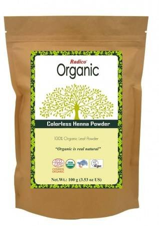 RADICO - Organic Colourless Henna Powder - Unparalleled care for beautiful hair - Promotes hair growth - Prevents grey hair - Fights hair loss - 100 gr ()