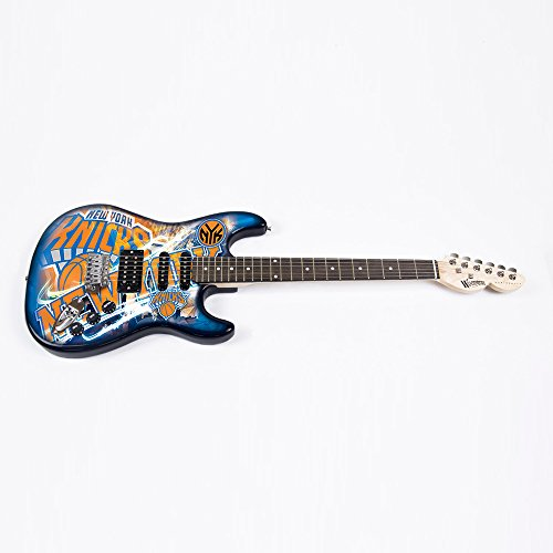 NBA New York Knicks NorthEnder Guitar, 39'' x 13'', Maple,39-Inch by 13-Inch,Blue by Woodrow Guitar by The Sports Vault