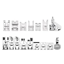 ABEDOE 16pcs Professional Sewing Machine Presser Walking Feet Set Low Shank Snap-on Foot Kit for Brother, Singer, Janome, Viking, Toyota, Simplicity, Kenmore