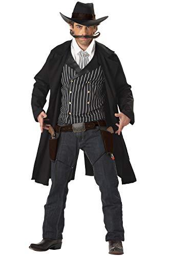 California Costumes Men's Gunfighter,Black/White,X-Large