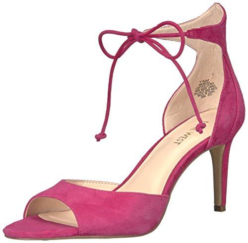 Nine West Women's Inesia Suede Dress Sandal, Pink, 6 M US