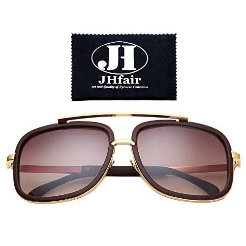 JHfair Square Aviator Fashion Mens Womens Sunglasses Brand - Glasses Designer For Sun Men