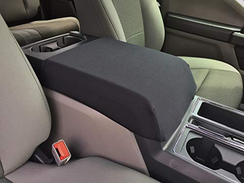 Auto Console Covers- Compatible with The Ford F350 2010-2019 Truck Center Console Armrest Cover Waterproof Neoprene Fabric (Black)