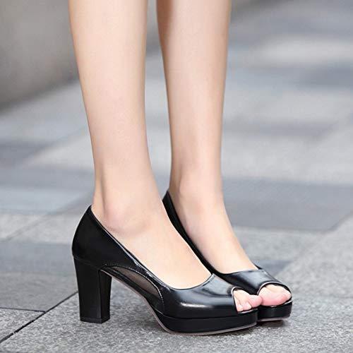 Pumps Noir Plateforme Talons Zanpa Bloc Mode Femmes fn8xUqRgvw