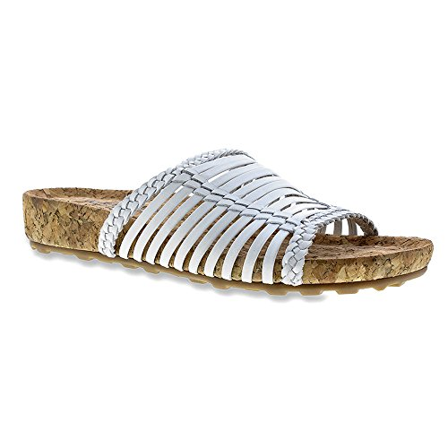 Cradles Walking Sandal Soft White cork S Slides N Wrap Piece Women Antanado dawqgaC