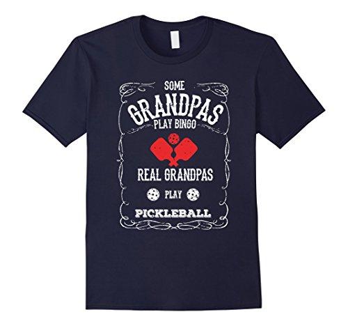 Mens Real Grandpas Play Pickleball T-Shirt XL Navy