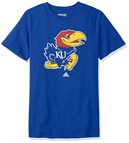 Jayhawk Tee (NCAA Kansas Jayhawks Men's School Logo Short Sleeve Tee, XX-Large,)