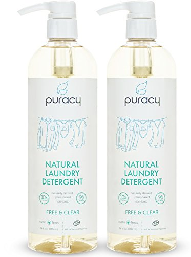 Puracy Natural Liquid Laundry Detergent, Sulfate-Free Enzyme Laundry Cleaner, 192 Loads, Pack of 2, Free and Clear
