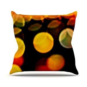 "Kess InHouse Maynard Logan ""Lights"" Outdoor Throw Pillow, 16 by 16-Inch"