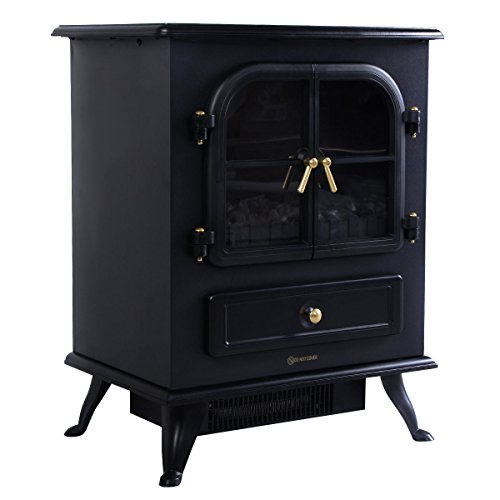 Giantex Free Standing Electric 1500W Fireplace Heater Fire Flame Stove Wood Adjustable by Giantex (Image #2)