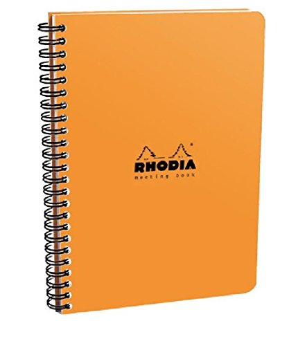 Rhodia Orange Meeting Notebook  16 x 21 cm,