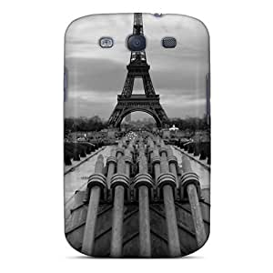 For JBiOOHJ6631vZMad Eiffel Tower Paris Black&white Protective Skin/For Iphone 4/4S Case Cover