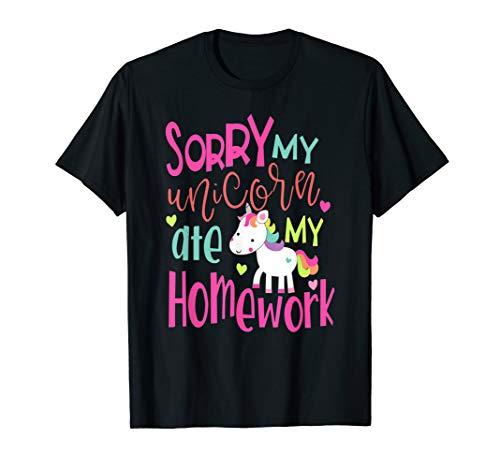 Sorry My Unicorn Ate My Homework T-Shirt Men Women And Kids ()