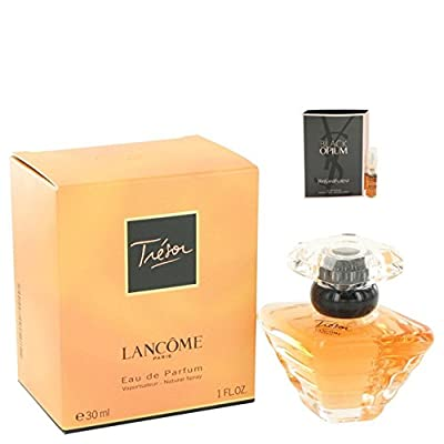 Tresor Perfume Eau De Parfum For Women 1 oz.30 ml. [WP] Free! Sample Perfume Black Opium 0.05 oz Vial