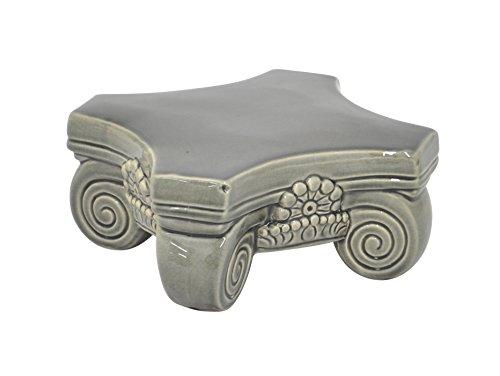 Charismatic Ceramic Pedestal-Gray (Ceramic Pedestal Stand compare prices)
