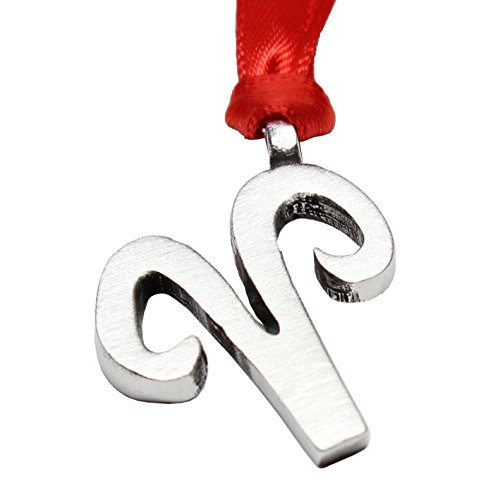 Pewter Aries Astrology Zodiac Sign The Ram Christmas Ornament and Holiday Decoration (March 21-April 20 Birthday)