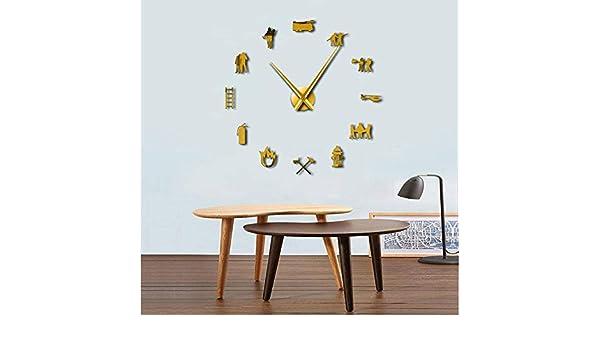 Amazon.com: Firefighter Love DIY Giant Wall Clock Fire ...