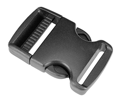 Strapworks Plastic Single Adjustable Side Release Buckles - for Bag Straps, Belts, Rifle Slings, Dog Collars - 1.5 Inch - 1 Pack