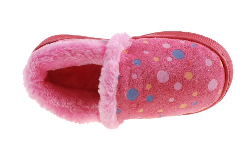 Colorfulworldstore Unisex Side seam dot Children's cotton slippers-Autumn and winter warm Plush boots shoes Rose GPbhmyzb