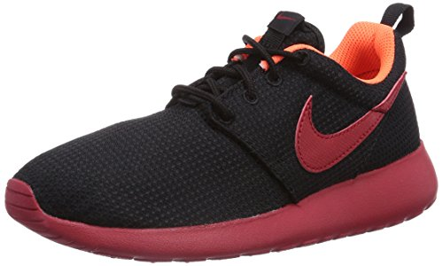 NIKE Roshe Run Scarpe da Corsa, Bambino Nero (Black/Gym Red-hyper Crimson)