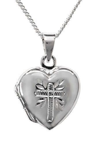 Prayer Locket (Dicksons My First Communion Sterling Silver Prayer Locket Necklace)