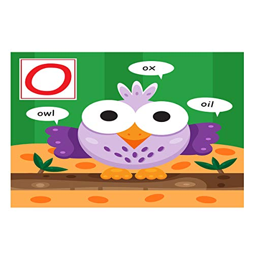 Fantasy Star Aquarium Background Alphabet Letter O Owl Fish Tank Wallpaper Easy to Apply and Remove PVC Sticker Pictures Poster Background Decoration 18.4