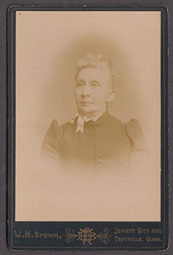 Mrs Benjamin Jewett City CT cabinet photo by W H Brown Taftville