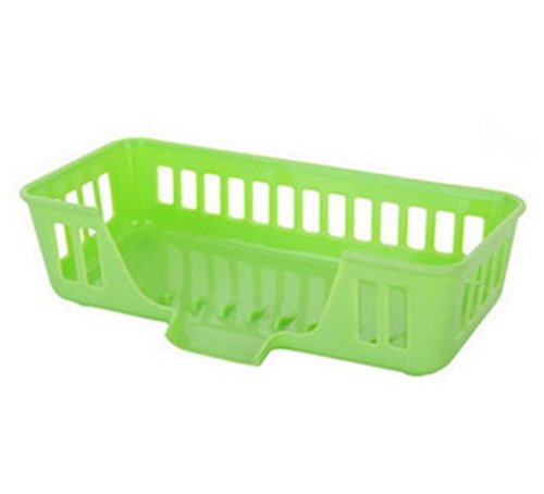 Kitchen Plastic Draining Tray Dish Drainer Drying Rack Tray Sink Holder Storage Organization Basket by Micro Shops (Green)