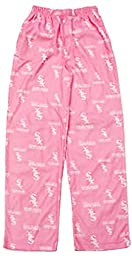 Chicago White Sox Fleece Youth Pink Pajama Pants (Medium (10-12))