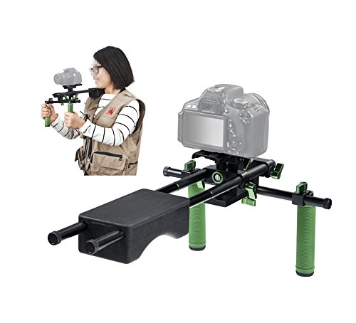 IMORDEN IR-04 Dual Grip Video Stabilization Shoulder Support Rig Filmaking Kit with 15mm Rods and Comfortable Shoulder Pad for BMPC, DSLR Sony Canon Nikon Cameras&Camcorders(up to 10kg/22lbs) by IMORDEN