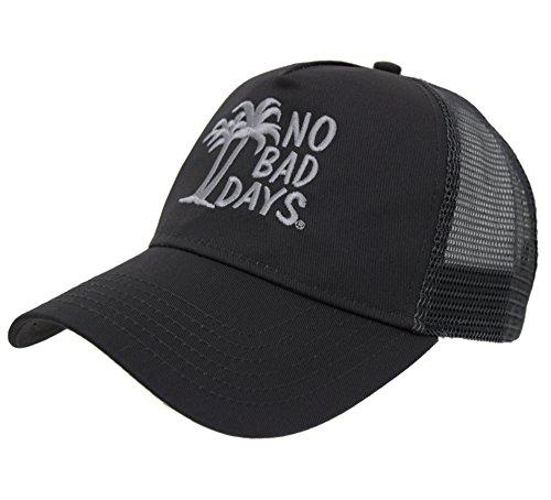 No Bad Days Cotton Twill Five Panel Pro-Style Mesh Cap - (Panel Pro Style Cotton Twill)