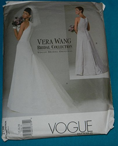 Vogue Pattern 2118, Vera Wang Bridal Collection, Size 12-14-16