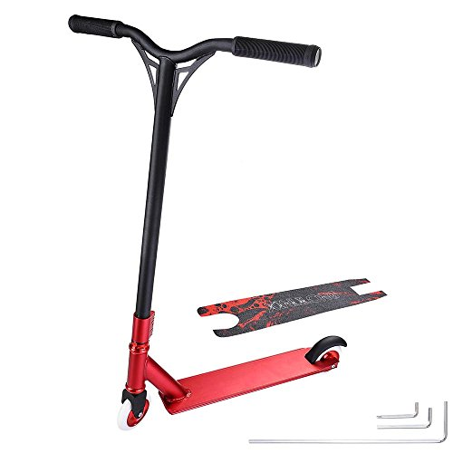 AW Professional Aluminum Freestyle Stunt Kick Scooter Tricks Skatepark BMX Handlebar for Adult Capacity 220Lbs
