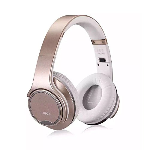 WearPai Bluetooth Headphones Over-Ear 2 in1 Foldable Wireless Headphones with Twist-out Speaker Stereo Headset Hi-Fi Stereo Headset with High-Resolution Audio (Rose Gold) by Wearpai