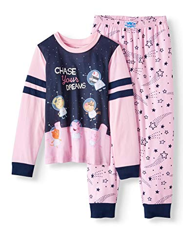 - Peppa Pig Sporty Long Sleeve 2pc Sleep Set (Little Girls & Big Girls) (Small 6/6x)