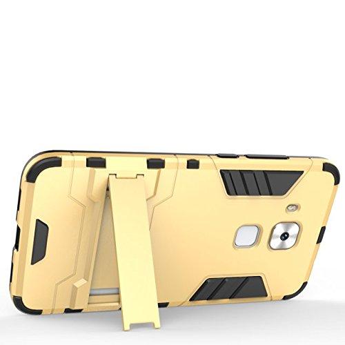 Caso Huawei Nova Plus, estilo hierro Bear Premium 2 en 1 plástico y armadura TPU resistente a los golpes cubierta protectora dura de la caja trasera con soporte de TV para Huawei Nova Plus ( Color : B Gray