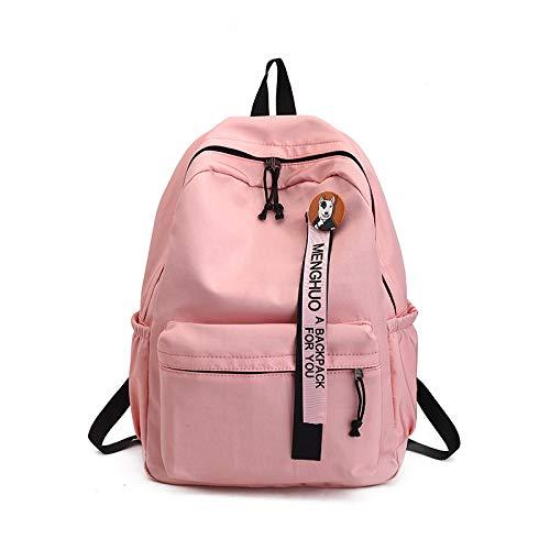 Adolescents Femmes Sac Sacs Dos Dos Mode Universitaires Pink D'École À pour Étudiants Filles pour Classiques Rubans Sacs Femme À À Badge Dos Sac SHUANGJIAN CxwqEOXYv