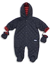 The Essential One Baby Boys' Quilt Snowsuit Pram 12-18 Months Blue