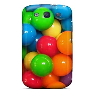 Rugged Skin Case Cover For Galaxy S3- Eco-friendly Packaging(sweet Balls) by mcsharks