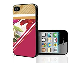 Wood, Fuchsia Flowers, and Triangles Hard Snap on Phone Case (iPhone 5/5s)