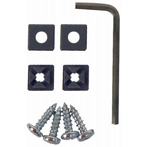 Custom Accessories 93360 Anti-Theft License Plate Stainless Steel Fastener