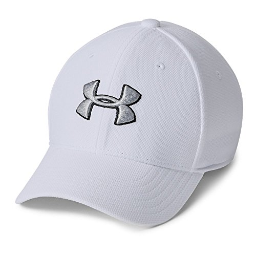 Cap Hat Small (Under Armour Boys' Blitzing 3.0 Cap, White (100)/Steel, Youth X-Small/Small)