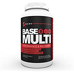 BASE Performance Multi | Performance and Recovery Supplement supplies important vitamins, minerals, and antioxidant support | 30 day supply