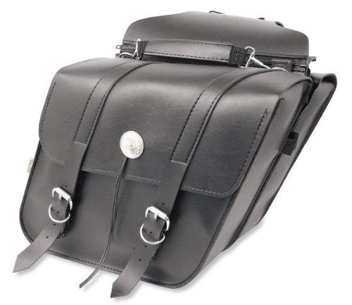 Saddlebags Accessories Standard - Willie & Max SB700 Deluxe Series Standard Slant Saddlebag Set