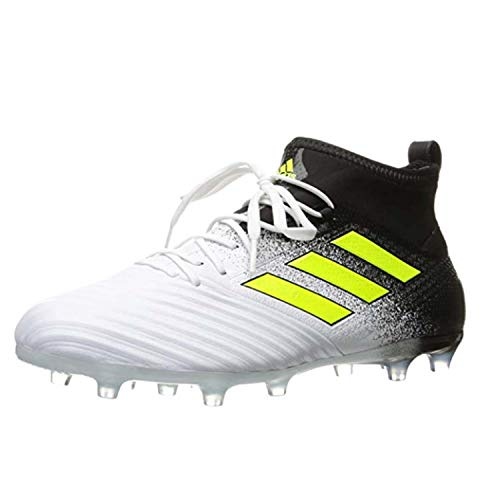 Adidas Black Football Cleat - adidas Men's Ace 17.2 Firm Ground Cleats Soccer Shoe, White/Solar Yellow/Black, (11.5 M US)