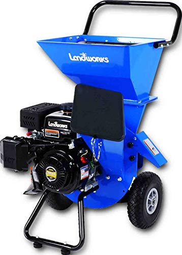 - Landworks Super Heavy Duty 7HP 212cc Gas Powered Wood Chipper Shredder Chipping Max. of 3 INCH Capacity, 3 in 1 Capable Multi-Function, CARB Certified 3 Years Warranty