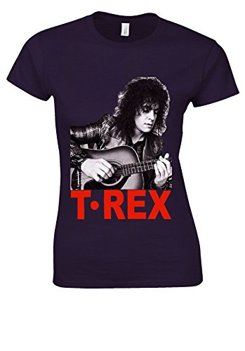 器具合法謝罪するMarc Bolan T-Rex Slider English Rock 70's 80's White Women T Shirt Top