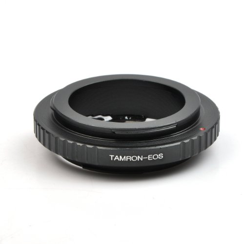PixcoLens Mount Adapter with Focus Adjustable Aperture EMF AF Confirmation Chip, Tamron Adaptall II Lens to Canon EOS Camera such as EOS 7D and - Lens F64