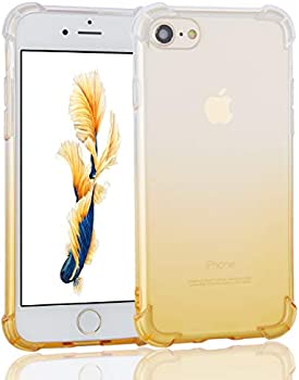 Uhans Crystal Clear Gradient Shock Cover Case for iPhone 7/iPhone 8