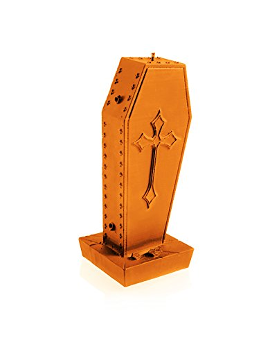 Candellana Candles 5903104805302 Gothic Coffin with Cross Orange